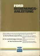 @@@ FORD BEIDENUNGS-ANLEITUNG, 70 PAGES - Herstelhandleidingen