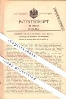 Original Patent - Charles Caille à Le Perreux , Seine , 1902 , Dispositif Pour La Stérilisation Des Liquides !!! - Le Perreux Sur Marne