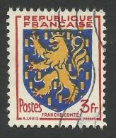 France, 3 F. 1951, Sc # 663, Mi # 921, Used - 1941-66 Wappen