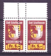 894 - SCHAFFHAUSEN Fiskalmarken Mit Doppelzähnung - Steuermarken