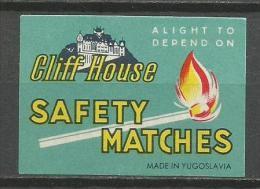 Matchbox Label Etiquette Allumette From Yugoslavia - Boites D'allumettes - Etiquettes
