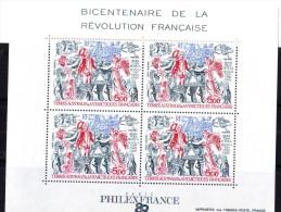 TAAF Bloc N° 1 Revolution Française MNH** - Blocks & Kleinbögen
