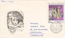 1972 - Josef Liesler (Surréalisme, Painter, Peintre) - FDC
