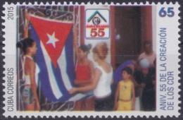 2015.87 CUBA 2015 MNH 55 ANIVERSARIO DE LOS CDR. - Kuba