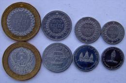 CAMBOGIA 1994  SERIE 4 MONETE CON BIMETALLICA 500-200-100-50 RIALS FDC - Cambogia