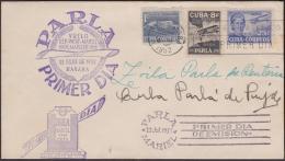 1952-FDC-45 CUBA REPUBLICA 1952. AGUSTIN PARLA. ALL FDC CANCEL COVER. SIGNED ZOILA PARLA & CUBA PARLA. - FDC