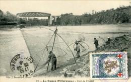 La Rance Pittoreque  Pont De L Essart  Pecheurs Au Carrelet+vignette  Comité De Dinan  1916  Société  De Secours Aux Ble - Autres Communes