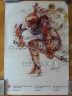 Sarajevo Olympic Winter Games 1984 100x70 Cm 39x27 Inch Hockey ORIGINAL - Manifesti