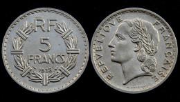 5 Francs 1938 Lavrillier. Nickel. Belle Qualite! - J. 5 Francs