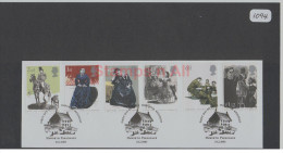 GB 2005 Jane Eyre Set USED On Piece - Used Stamps