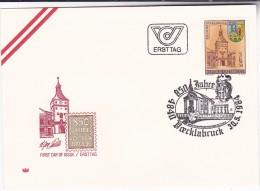 1984 AUSTRIA  FDC VOCKLABRUCK ANNIV Stamps SPECIAL Pmk VOCKLABRUCK Cover Heraldic - FDC