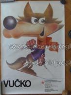 Sarajevo Olympic Winter Games 1984 100x70 Cm 39x27 Inch Vucko Mascot ORIGINAL - Non Classificati