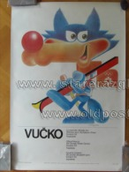 Sarajevo Olympic Winter Games 1984 100x70 Cm 39x27 Inch Vucko Mascot ORIGINAL - Giochi Olimpici