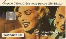 CARTE°-PUCE-PRIVEE-PUBLIC- 50U-EN799-SC7-11/93-FRANCE TELECOM CABLE-Utilisé-TBE - France