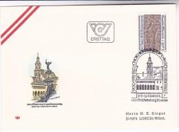 1984 AUSTRIA FDC Stift  REICHERSBERG ABBEY Stamps SPECIAL Pmk ST GABRIEL REICHERSBERG Cover Church Religion Christianity - Christianity