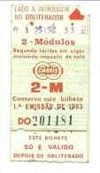 Ticket - Carris - Portugal - Railway