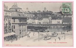 SUISSE -- LUCERNE - LUZERN --LA POSTE ET LE PONT DE LA CHAPELLE -- - LU Lucerne