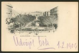 EGYPT ALEXANDRIA OLD POSTCARD 1904 - Alexandrie