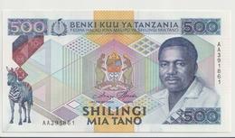 TANZANIA P. 21a 500 S 1989 UNC - Tanzania