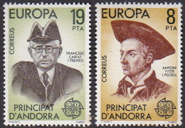 Andorra Spanish 1980 Europa Mint Never Hinged Set - Europa-CEPT