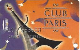 Paris Casino Las Vegas - PRINTED Slot Card - Bottom Text Starts Inside Tower Feet - Casino Cards