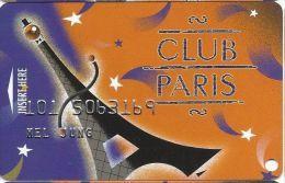 Paris Casino Las Vegas - PRINTED Slot Card - Bottom Text Starts Under Left Foot Of Tower - Casino Cards