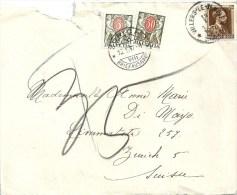 Taxierter Brief  Villers-le-Temple (Belgien) - Zürich        1937 - Covers & Documents