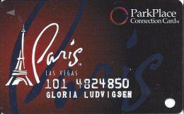 Paris Casino Las Vegas - PRINTED Slot Card - Park Place Connection Card - Casino Cards