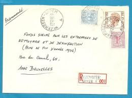854+859+1649 Op Brief Aangetekend Met Stempel WEZEMBEEK-OPPEM - 1970-1980 Elström