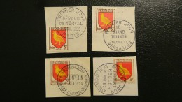 """1955/56/57/65 Original 4 Oblitérations 1er Jour Différentes Et """"Journée Du Timbre"""" 1965 0,30 € (cote?) - 1950-1959"""