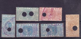 India 1872 Court Fees - Used - Official Stamps
