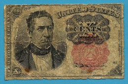 United States - 10 Cents ( X ) - 1864 ( 1874 ) - Serie L 61 - Pick 122 - Fractional Currency - W. Meredith - Fractional Currency (1862-1875)
