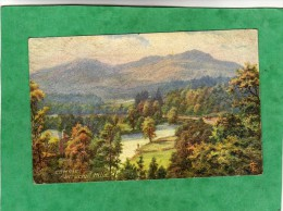 Comrie Aberuchill Hills Oilette 7889 Raphael Tuck & Sons Bonnie Scotland (Perth & Kinross ?) - Kinross-shire