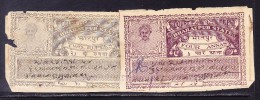 India Bharatpur -  Court Fee -  2R Grey And 4a Purple - On Paper - India