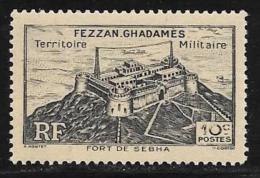 Libya, Fezzan Scott # 1N1 MNH Sebha Fort, 1946 - Unused Stamps