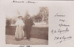 RIBEAUVILLE  Carte Photo Famille DE LIGNEROLLES - Ribeauvillé