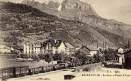 74 SALLANCHES La Gare Et Pointe D'Areu TRAIN - Sallanches