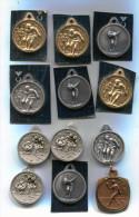 B846 LOT DE 12 MEDAILLES PETANQUE JEU DE BOULE  DIAMETRE 30 MM - Bowls - Pétanque