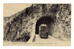 Cpa N° 1190 Route De Nice à Monaco Le Tunnel De La Mala Au CAP D ' AIL - Cap-d'Ail