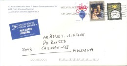 2012. USA, The Letter By Air-mail Post From Alexandria(Virginia) To Moldova - Vereinigte Staaten