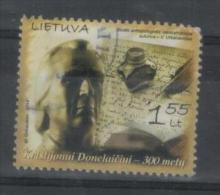 Lithuania Litauen Stamp Used  2014 Kristijonas Donelaitis Priest Writer - Lituania