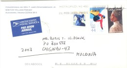 2013. USA, The Letter By Air-mail Post From Alexandria(Virginia) To Moldova - Vereinigte Staaten