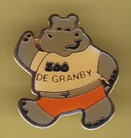 48977- Pin's..Zoo De Granby.Hippopotame.. - Animali