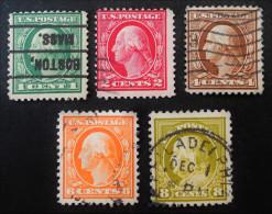 GEORGE WASHINGTON 1916 - OBLITERES - YT 199/00 + 202 + 204 + 206 - Usati