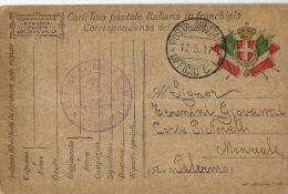 FRANCHIGIA POSTA MILITARE UFFICIO C.L. 1917 CORMONS OSPEDALE CAMPO 231 XMONREALE - 1900-44 Vittorio Emanuele III
