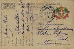FRANCHIGIA POSTA MILITARE INTEND 3 ARMATA B 1917 BEGLIANO OSPEDALE CAMPO 006 - 1900-44 Vittorio Emanuele III