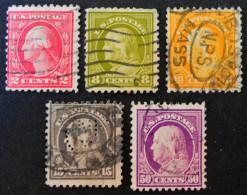 GEORGE WASHINGTON 1916 - OBLITERES - YT 200 + 206 + 208 + 212 + 215 - Usati