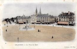 CHARTRES EURE ET LOIR  56 LA PLACE DES EPARS   COLL N.D.  NON ECRITE DOS NON DIVISE VERT - Chartres
