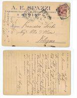 RIMINI - A.E. SPAZZI - COMMERCIANTE GENERI DIVERSI - CARTOLINA AUTOGRAFA - 1907 - Rimini