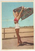 VINTAGE 1950s  UNUSED POSTCARD - RISQUE PIN UP BEAUTIES IN BIKINI - 330-4 - Pin-Ups